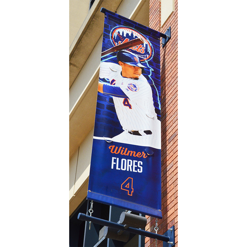 Photo of Wilmer Flores #4 - Citi Field Banner - 2018 Season