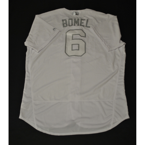"Photo of Bob ""BOMEL"" Melvin Oakland Athletics Game-Used 2019 Players' Weekend Jersey"