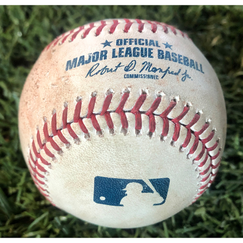 Photo of Game-Used Baseball - Nick Ahmed Single vs. Stephen Strasburg - 8/3/19 vs. Nationals