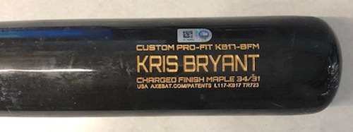 Photo of 12 Days of Auctions: Day 6 -- Kris Bryant Game-Used Cracked Bat -- Jeremy Jeffress to Kris Bryant, Ground Out, Bot 6 -- Brewers vs. Cubs -- 8/2/19