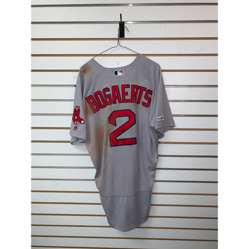 Photo of Xander Bogaerts Game Used June 15, 2019 Road Jersey - 1 for 2, 2 RBIs