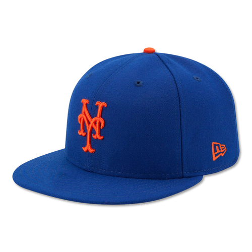 Photo of Dominic Smith #22 - Alonso Breaks Single-Season Rookie HR Record - Game Used Blue Hat - Mets vs. Braves - 9/28/19