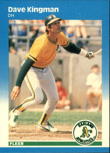 Photo of 1987 Fleer #396 Dave Kingman