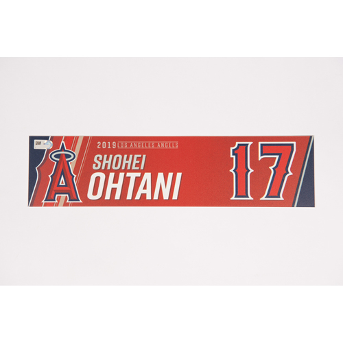Photo of Shohei Ohtani Team Issued 2019 Locker Tag