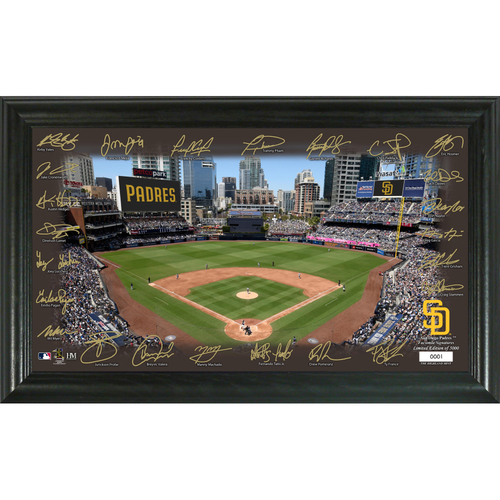 Photo of San Diego Padres 2020 Signature Field Limited Edition Frame