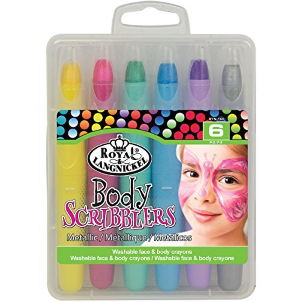 Photo of Royal & Langnickel Body Scribblers Metallic Coloured Pastel Pens