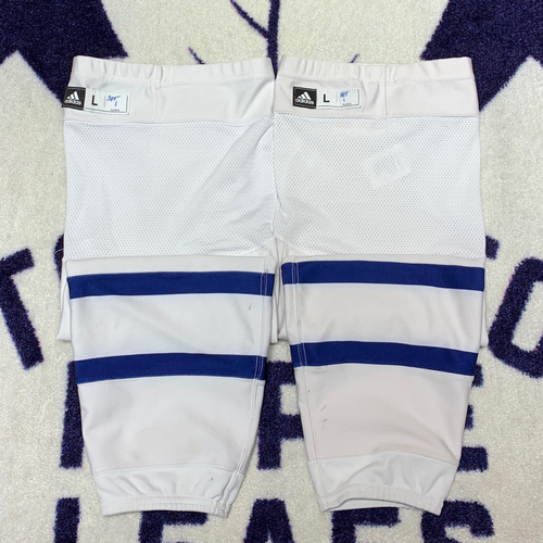 White Road Adidas Game Used Socks (Size L)