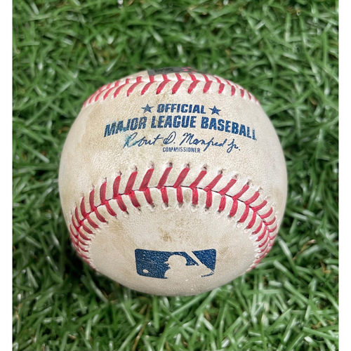 Photo of Game Used Baseball: Aaron Judge single off Tyler Glasnow - Game #1 of DH - Top 3 - August 8, 2020 v NYY