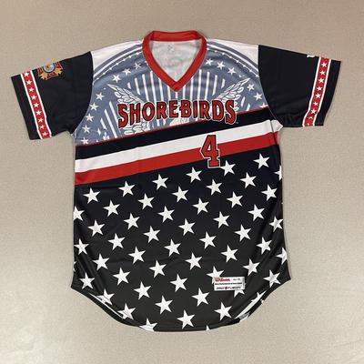 Patriotic Game Worn Autographed Jersey #4 Size 44 Rickey Ramirez
