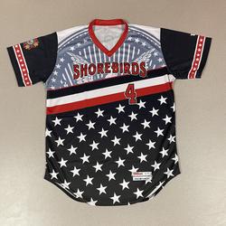 Photo of Patriotic Game Worn Autographed Jersey #4 Size 44 Rickey Ramirez
