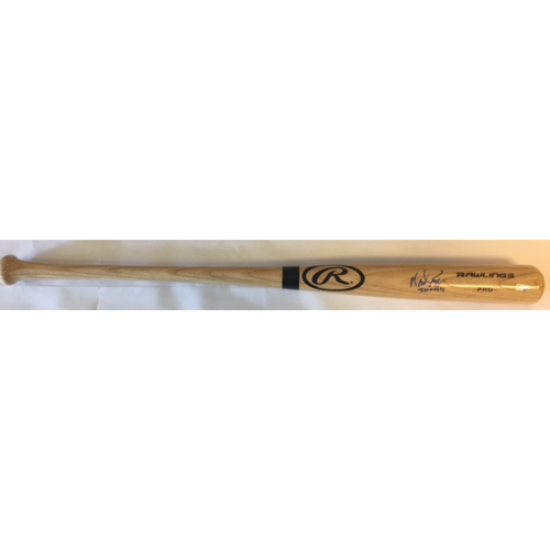 "Photo of Wade Boggs Autographed Rawlings Big Stick Bat with ""3,010 Hits"" Inscription"