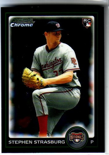 Photo of 2010 Bowman Chrome Draft #BDP1A Stephen Strasburg   Pre-Rookie Card
