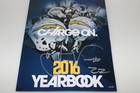 CHARGERS - JASON VERRETT SIGNED 2016 CHARGERS YEARBOOK