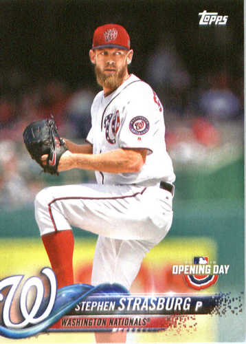 Photo of 2018 Topps Opening Day #113 Stephen Strasburg