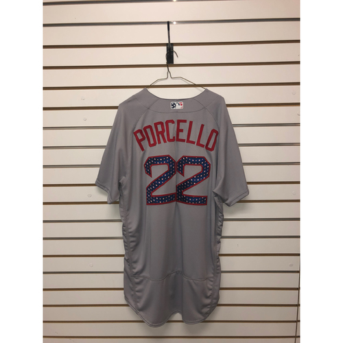 Photo of Rick Porcello Team-Issued 2018 Stars and Stripes Jersey