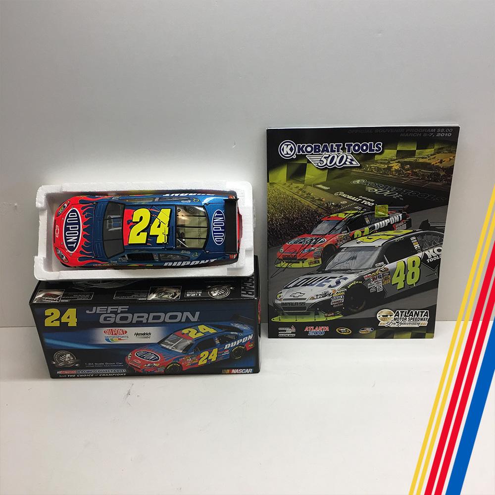 NASCAR's Jeff Gordon diecast and autographed program!