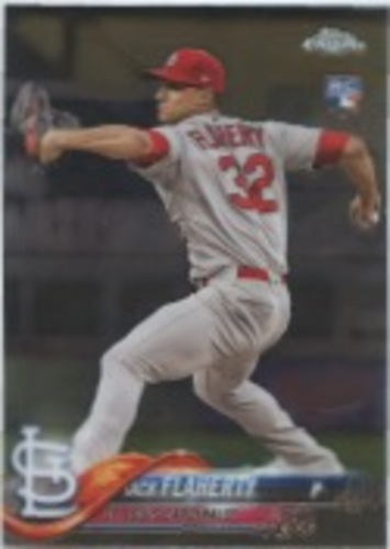Photo of 2018 Topps Chrome Update #HMT18 Jack Flaherty RC