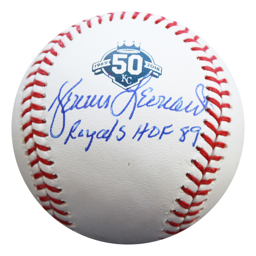 Photo of Autographed 50th Season Baseball: Dennis Leonard