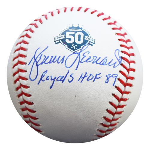Photo of Autographed 50th Season Baseball: Dennis Leonard