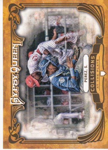 Photo of 2013 Topps Gypsy Queen Collisions At The Plate #SP Salvador Perez