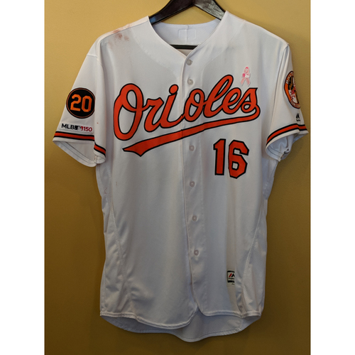 competitive price a32d7 8e8ae Orioles Auctions | Trey Mancini - Home Mother's Day Jersey ...