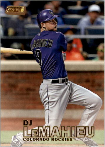 Photo of 2016 Stadium Club Gold #164 DJ LeMahieu