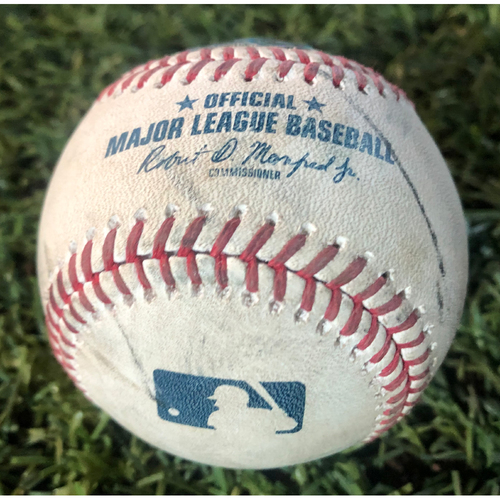 Photo of Game-Used Baseball - Nick Ahmed Two Run Home Run vs. Travis Bergen 8/17/19 vs. Giants