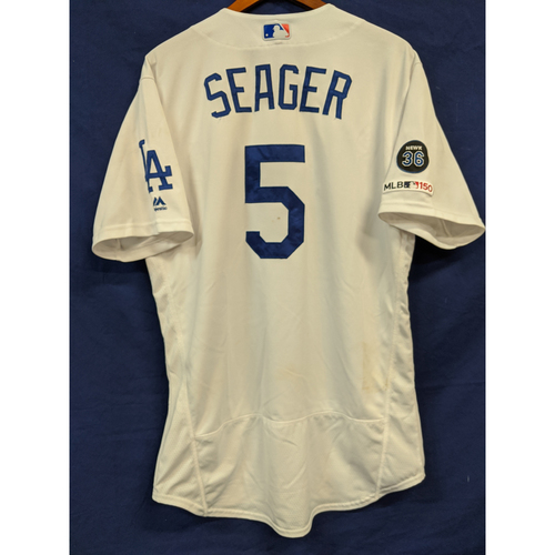 Photo of Corey Seager Game Used Home Run Jersey From Last Home Game of 2019