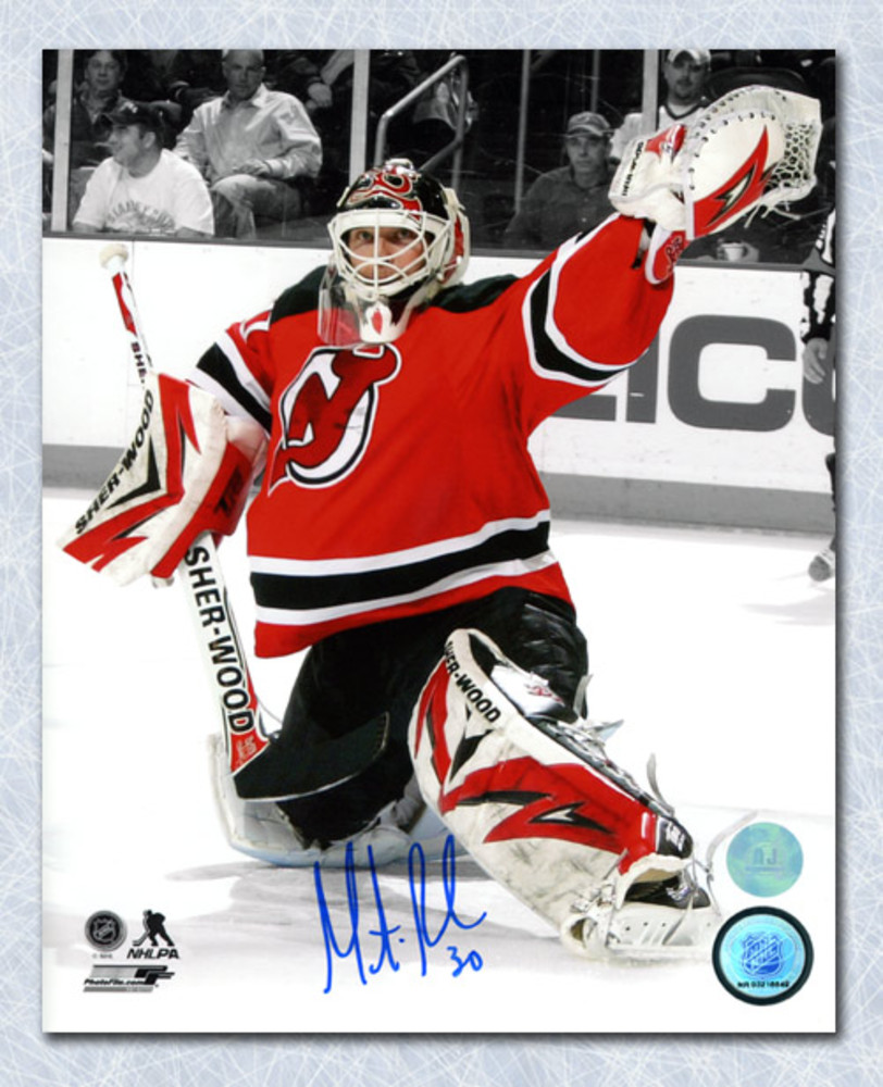 Martin Brodeur New Jersey Devils Autographed Goalie Spotlight 8x10 Photo