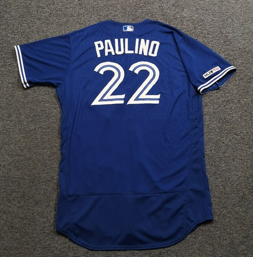 Photo of Authenticated Team Issued 2019 Jersey - #22 David Paulino. Size 50.