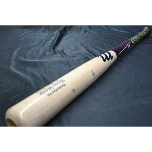 Arizona Fall League - Game-Used Broken Bat - Marucci TJ19-M Model - Player Name: Mickey Moniak (PHI) - Jersey Number: 10