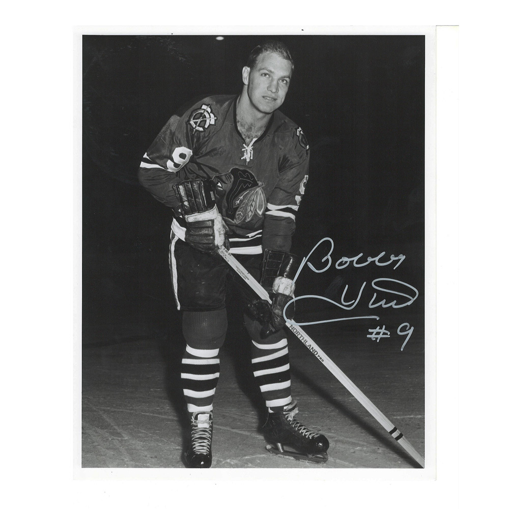BOBBY HULL Signed Chicago Blackhawks 8 X 10 Photo - 70089