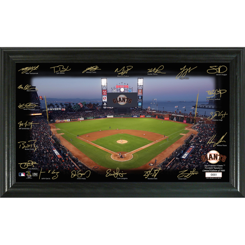 Photo of San Francisco Giants 2020 Signature Field Limited Edition Frame