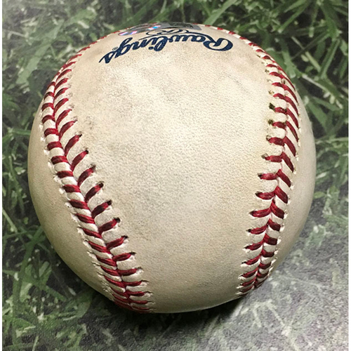 Photo of Game-Used Baseball SF@MIL 09/08/18 - Will Smith - Christian Yelich: Single