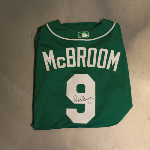 Photo of Autographed 2020 St. Patrick's Day Jersey: Ryan McBroom #9 (Size 48)