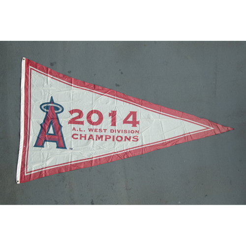 Photo of Los Angeles Angels 2014 American League West Division Champions Team-Issued Pennant