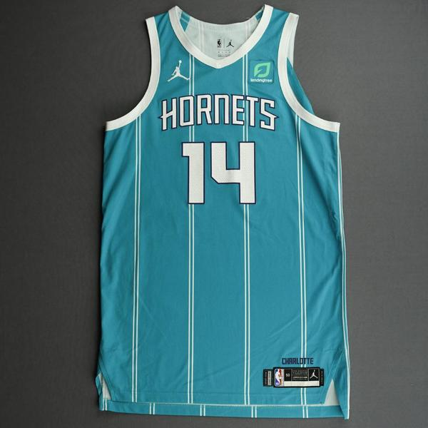 Image of Nick Richards - Charlotte Hornets - Game-Worn Icon Edition Jersey - Dressed, Did Not Play (DNP)