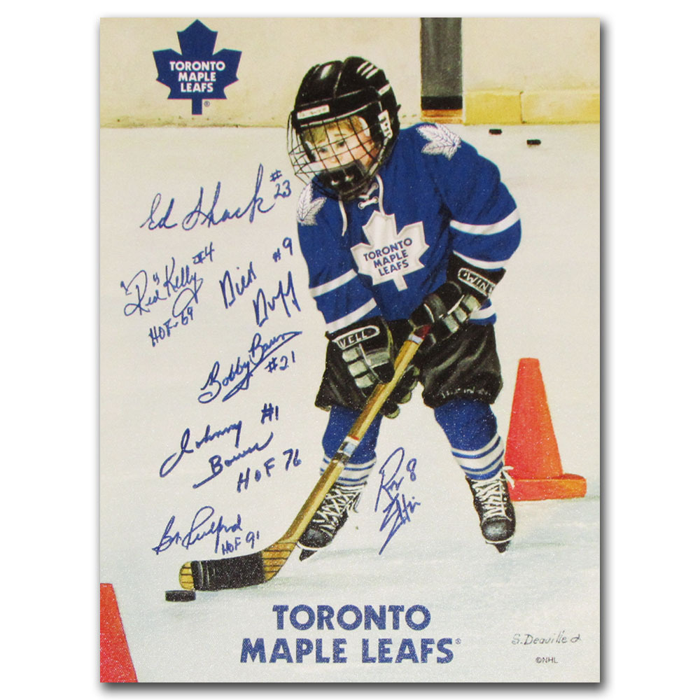 Toronto Maple Leafs Multi-Signed Canvas - Autographed by Seven