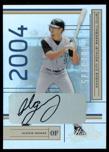 Photo of 2004 Absolute Memorabilia Signature Spectrum Silver #98 Alexis Gomez/250