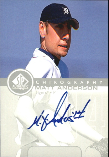 Photo of 1999 SP Authentic Chirography #MA Matt Anderson