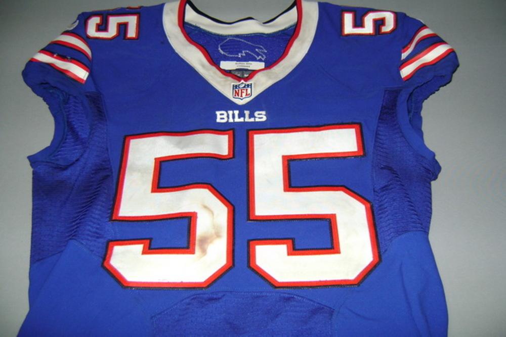 brand new 50750 11add NFL Auction | BILLS - JERRY HUGHES GAME WORN BILLS JERSEY ...