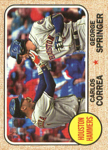 Photo of 2017 Topps Heritage Combo Cards #CC3 George Springer/Carlos Correa