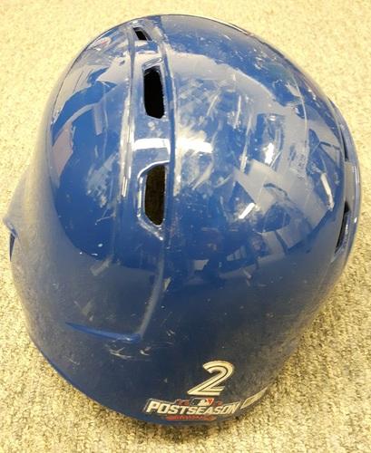 Photo of Authenticated Game Used Postseason Helmet - #2 Troy Tulowitzki (2016 AL Wild Card Game and ALCS Games 3 and 4). Size 7 1/4.