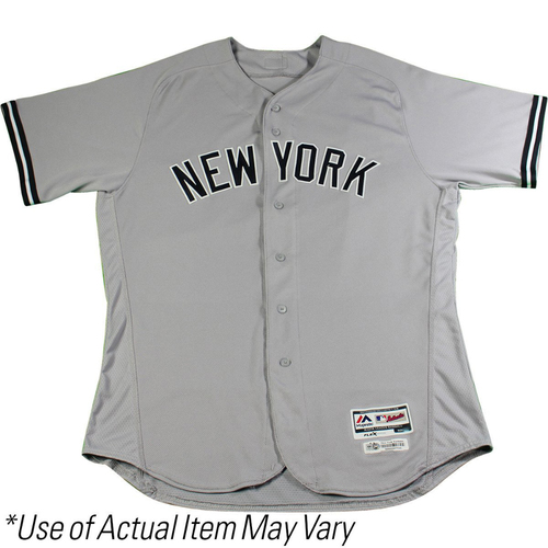 Photo of Aroldis Chapman New York Yankees 2017 Game-Used #54 Grey Jersey (Cool Base)(4/27/2017) (Size 46)