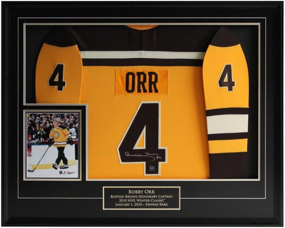 Bobby Orr Signed Jersey Framed Bruins Replica Sunflower CCM