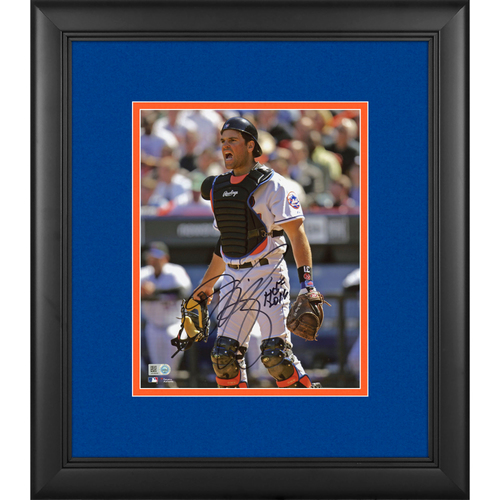 "Photo of Mike Piazza New York Mets Framed Autographed 8"" x 10"" Photo with HOF 2016 Inscription"