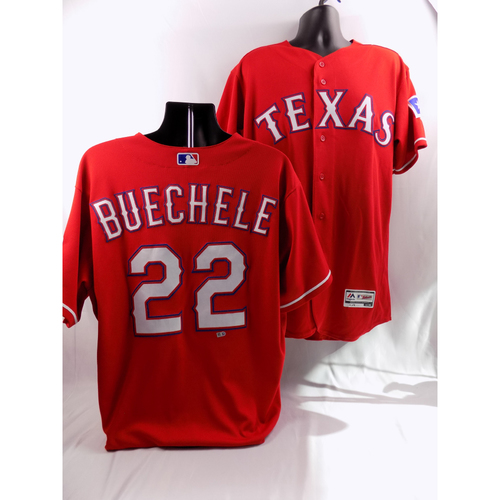 Photo of 8/7/18 - Game-Used Red Jersey - Steve Buchele