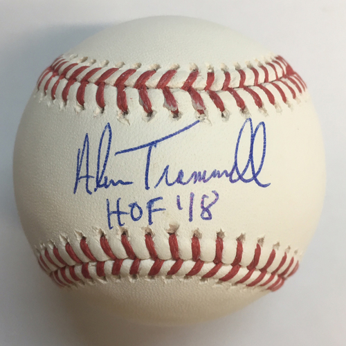 "Photo of Alan Trammell ""HOF 18"" Autographed Baseball"