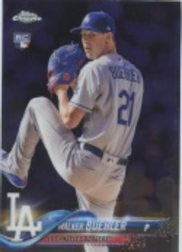 Photo of 2018 Topps Chrome Update #HMT19 Walker Buehler Rookie Card