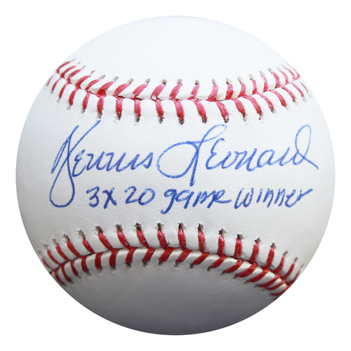 Photo of Autographed Baseball: Dennis Leonard 3 X 20 Game Winner